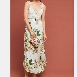 NWT Anthropologie Farm Rio S floral maxi dress